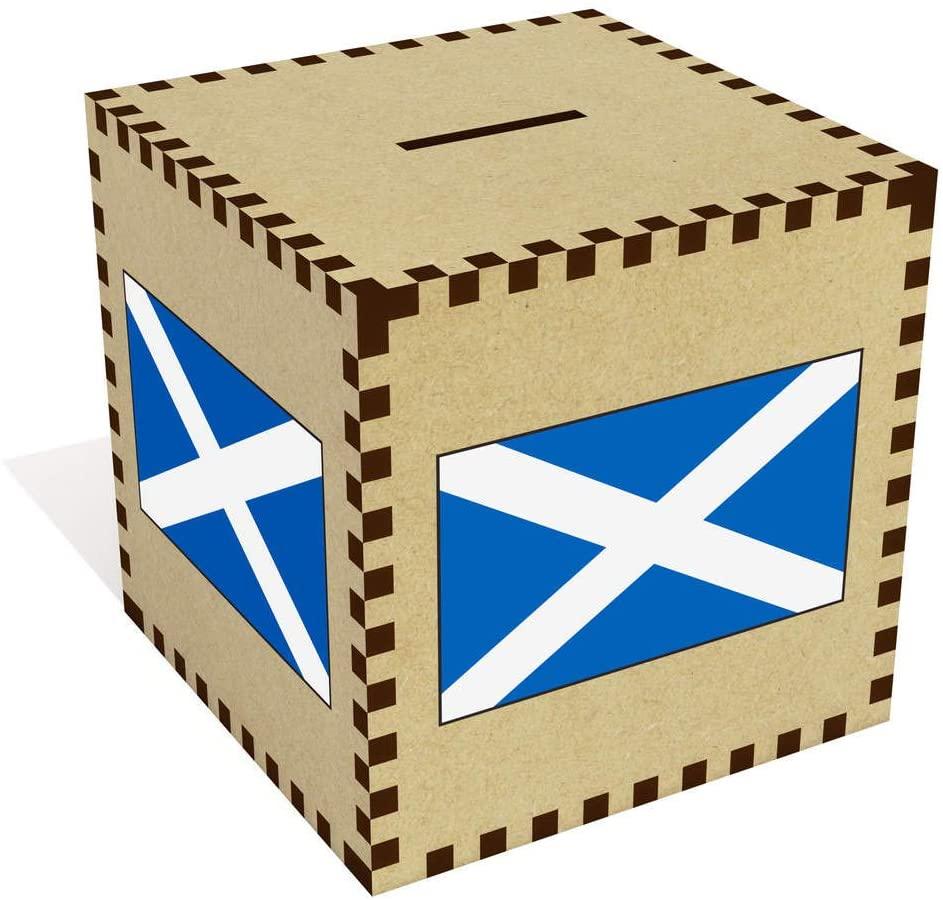 Azeeda Large 'Scottish Flag' Money Box / Piggy Bank (MB00073448)
