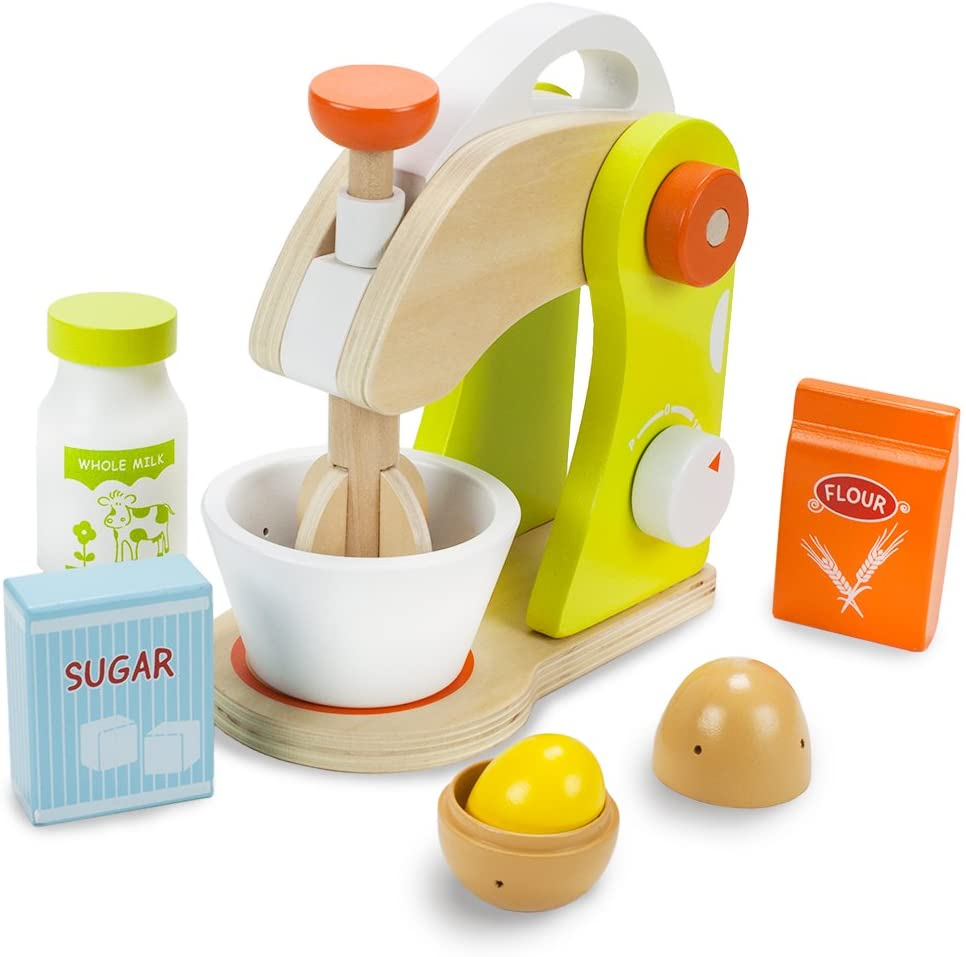 Wood Eats! Marvelous Mixer Playset with Sugar, Milk, Flour and Egg
