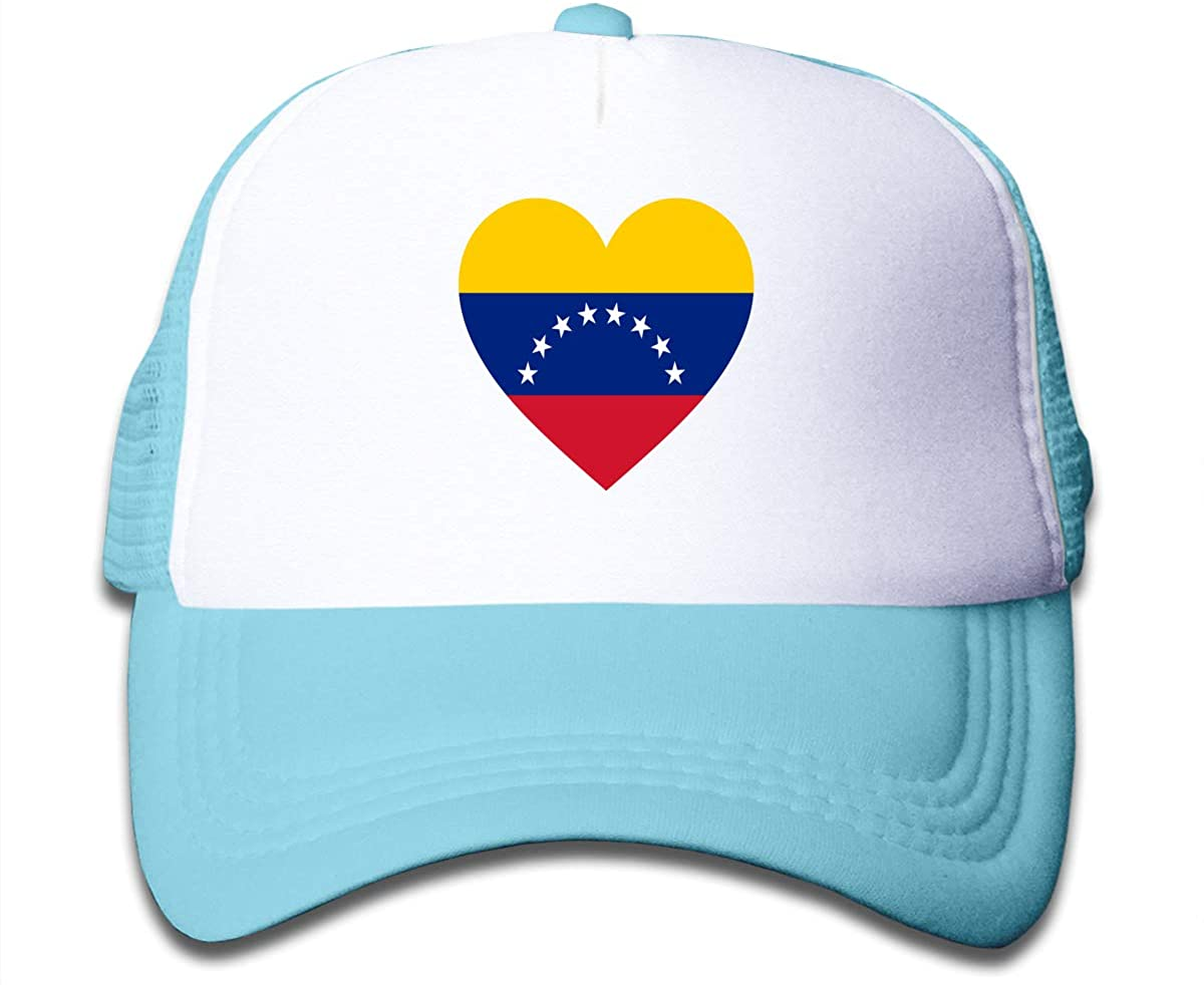 Love Venezuela Flag Children's Adjustable Mesh Hats Baseball Trucker Cap for Boys and Girls