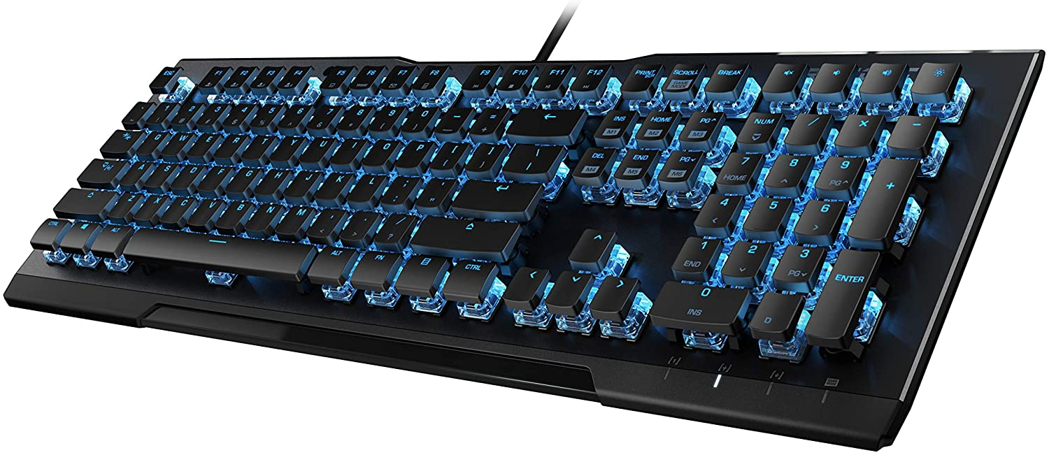 ROCCAT Vulcan 80 - Mechanical Gaming Keyboard, Titan Switches, Durable Design, Anodized Black Aluminum Back Plate