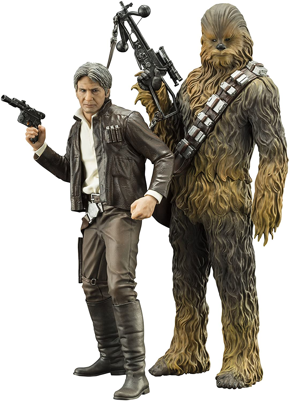 Kotobukiya Star Wars The Force Awakens Han Solo & Chewbacca Two Pack Artfx+
