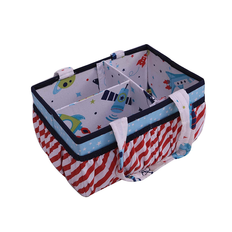 Bacati Space Multicolor Nursery/Kids Room Storage (Nursery Storage Caddy)
