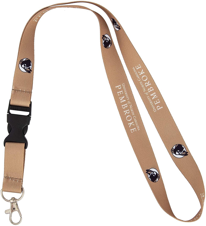 University of North Carolina Pembroke UNCP Braves NCAA Car Keys ID Badge Holder Lanyard Keychain Detachable Breakaway Snap Buckle