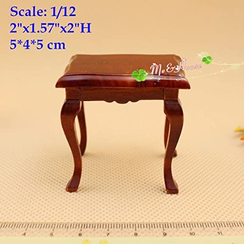 1:12 Scale Dollhouse Miniature End Table Side Stand Living Room Wood Furniture