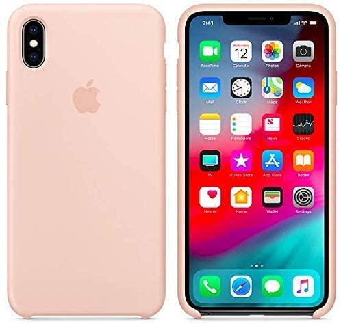 JBZTech Soft Microfiber Cloth Liquid Silicone Gel Rubber Shockproof Case for iPhone X - Pink