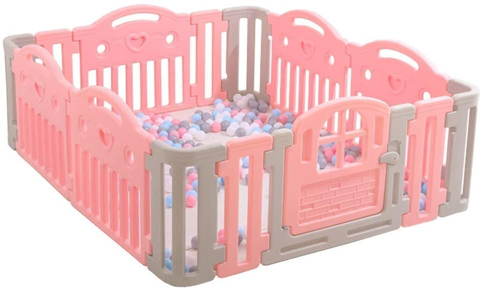 HWZQHJY Home Indoor Baby Playpens, Kids Toddlers Playing Fence Indoor Kids Safety Gates Baby Activity Centre with Safety Lock (Size : 185155cm)