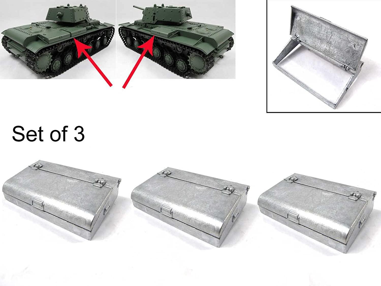 Mato Metal Storage Box for 1/16 1:16 RC Russian KV-1 Tank Metal Parts