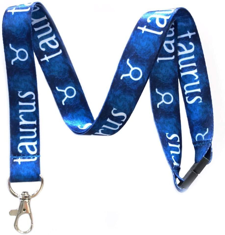 Taurus Zodiac Break Away Lanyard Key Chain Id Badge Holder