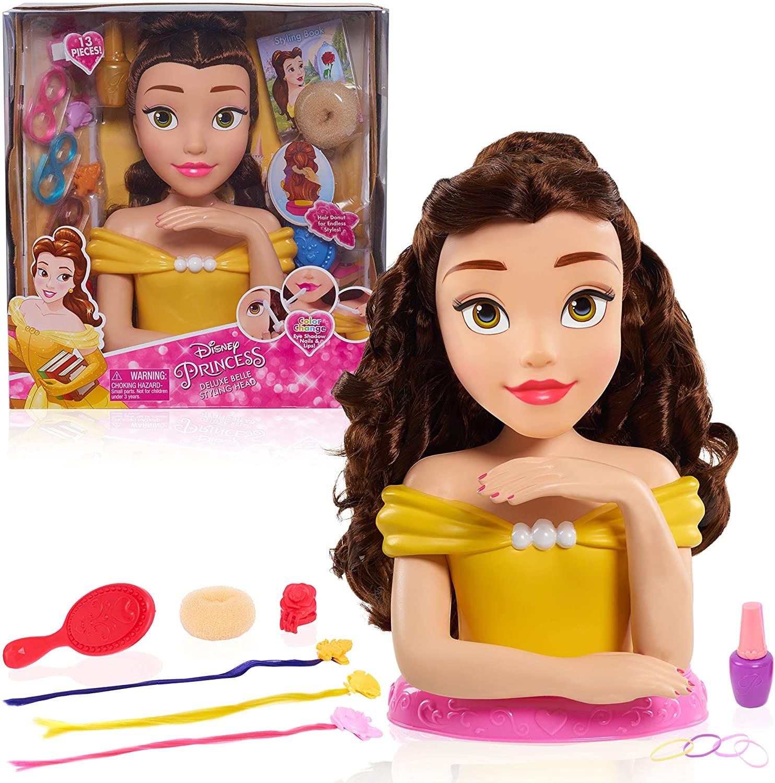 Disney Princess JPL87355 Princess Deluxe Belle Styling Head, Yellow