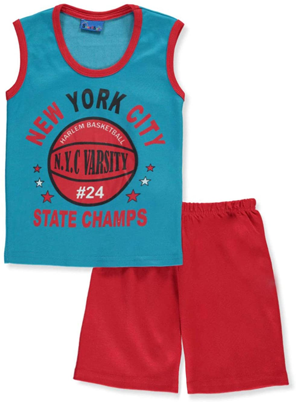 Sweet & Soft Baby Boys' NYC Basketball 2-Piece Shorts Set Outfit