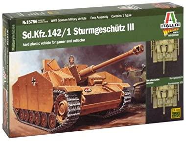 Italeri 15756 1/56 Sd.Kfz.142 Sturmgeschutz III Tank (Wargames)
