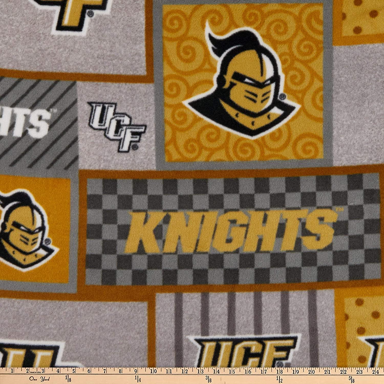 Sykel Enterprises NCAA UCF Knights College Patch Fleece, Black Yard