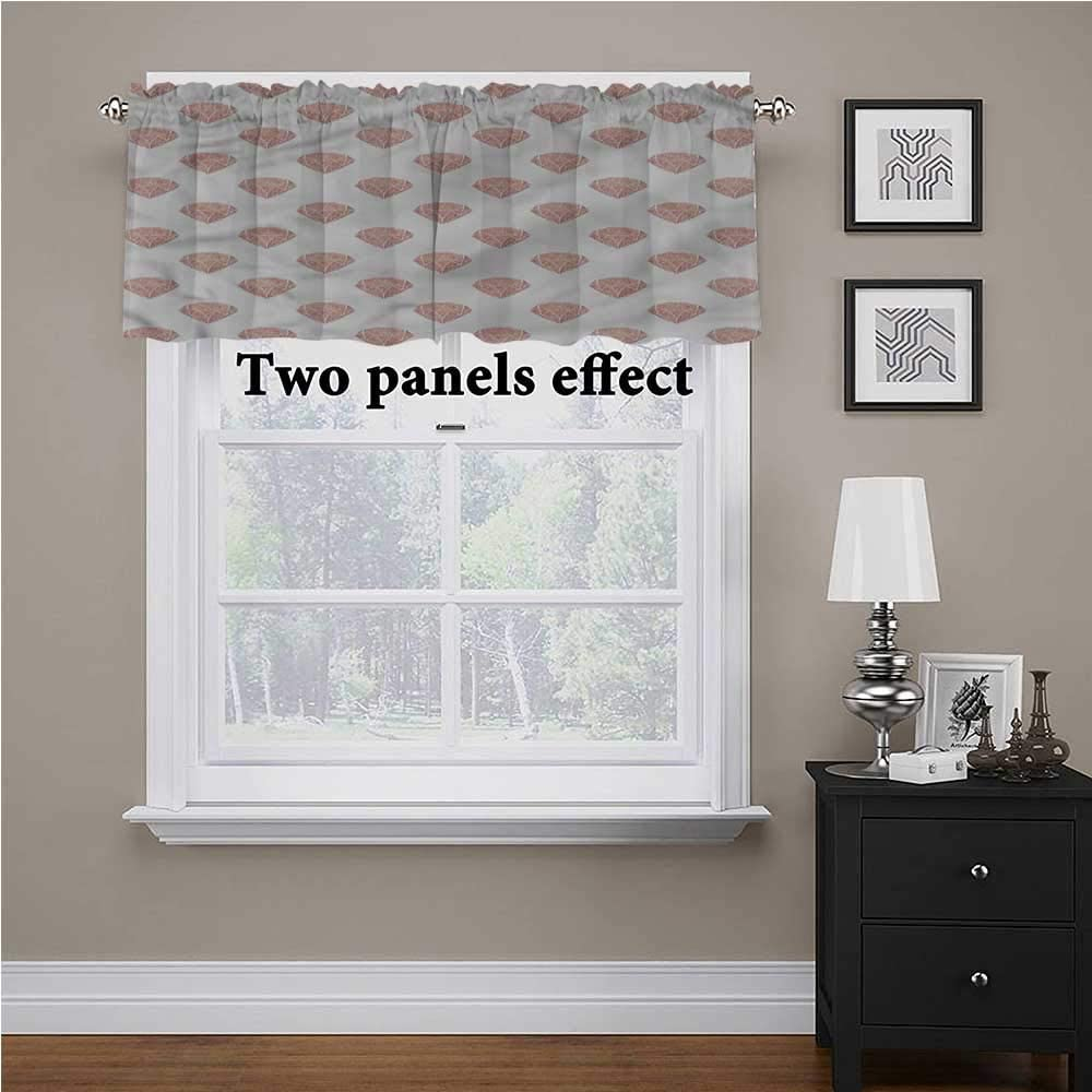 shirlyhome Diamonds Bedroom Blackout Valance Tier Grungy Effect Cut Stones for Kids Room/Baby Nursery/Dormitory, 56 Inch by 16 Inch 1 Panel