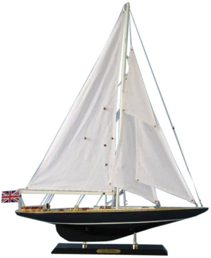 Hampton Nautical Velsheda Decorative Model J Yacht, 27