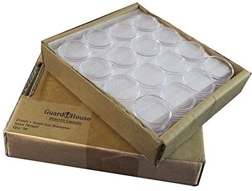 Guardhouse Nickel 21mm Direct Fit Coin Capsules, 50 Pack