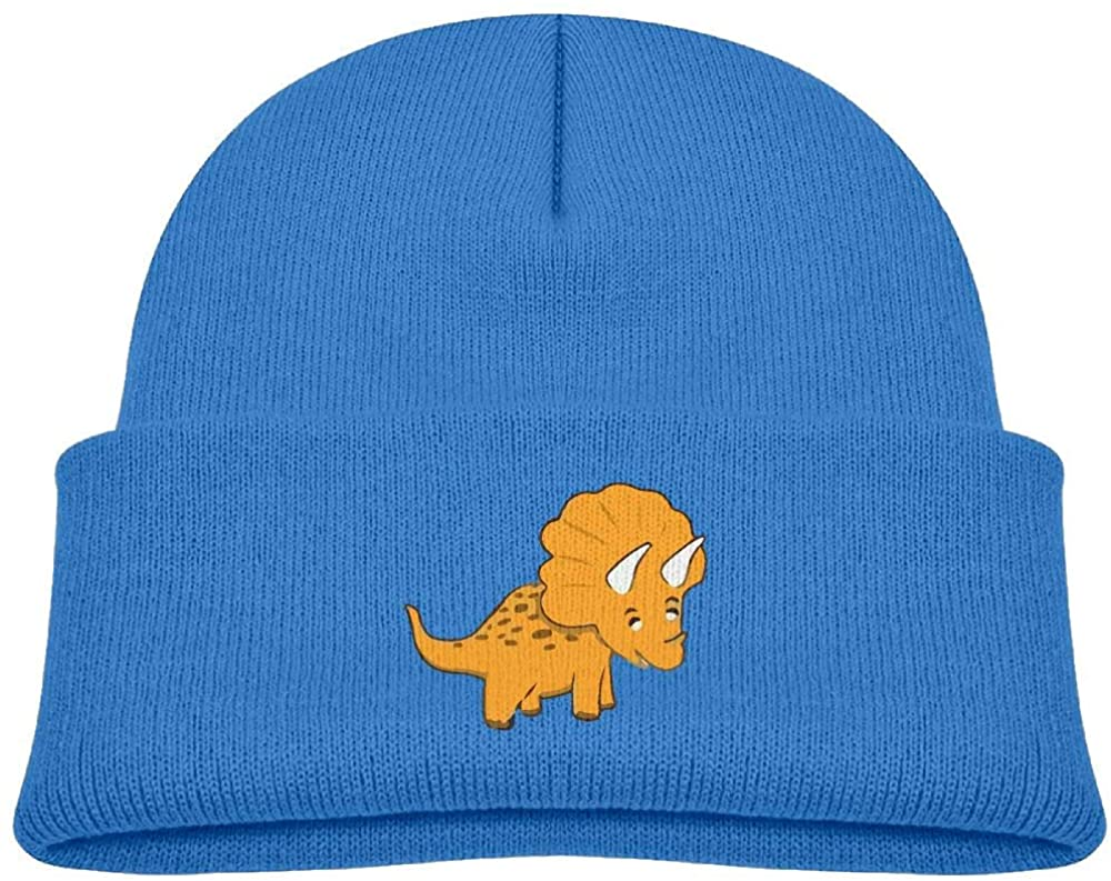 lead-do Baby Boys Girls Catoon Dinosaur Kint Beanie Hats Toddler & Kids Winter Warm Kinted Caps(2-6T)