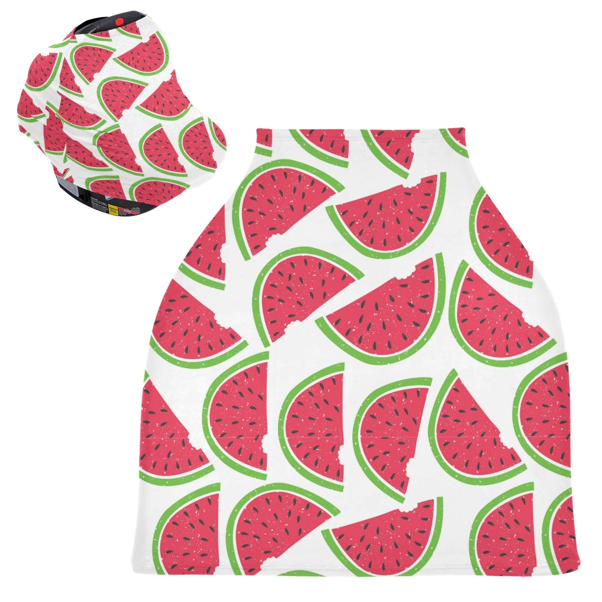 Stretchy Baby Car Seat Canopy - Patron Sandia Watermelon Infant Stroller Cover Multi Use Carseat Canopy Nursing Cover for Baby Boy and Girl