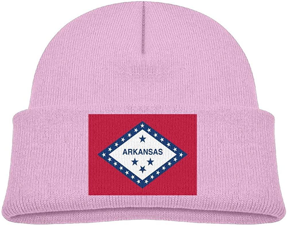 lead-do Baby Boys Girls Arkansas Flag Kint Beanie Hats Toddler & Kids Winter Warm Kinted Caps(2-6T)