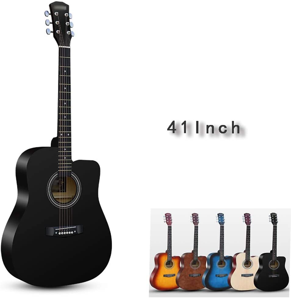 Classical Guitar Upgraded Version Beginner Starter Kit Guitar Backpack Guitar Strings Low Chord Sound Adult, 41inch BAIYING (Color : Black, Size : 41inch)