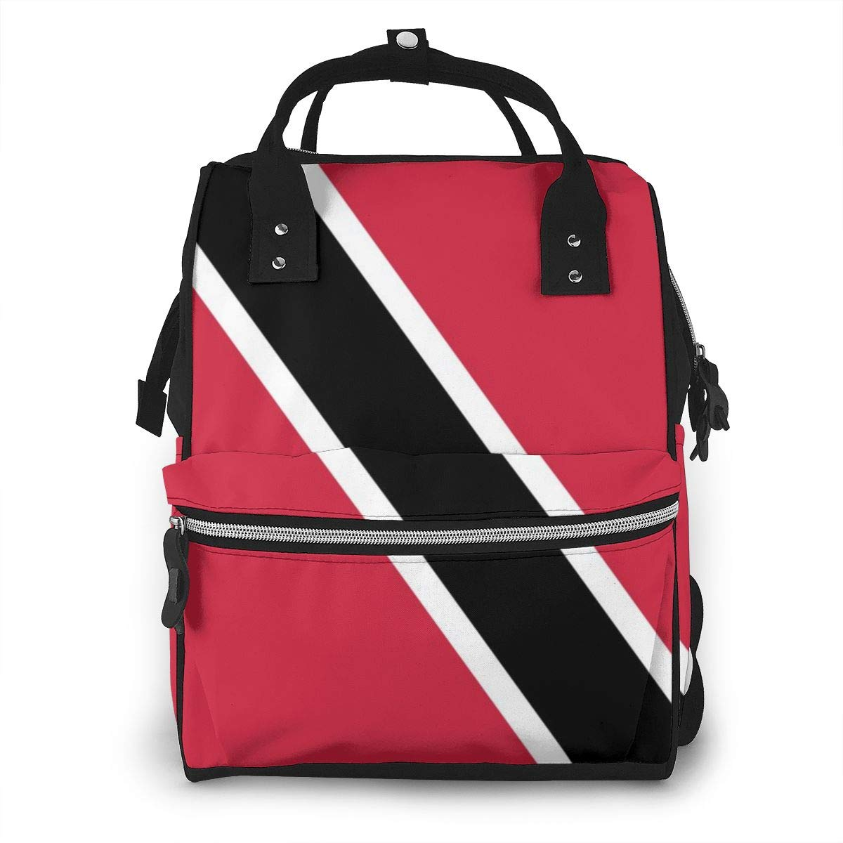 Trinidad and Tobago Flag Emblem Fashion Diaper Bags Mummy Backpack Multi Functions Waterproof Large Capacity Nappy Bag Nursing Bag for Baby Care for Traveling