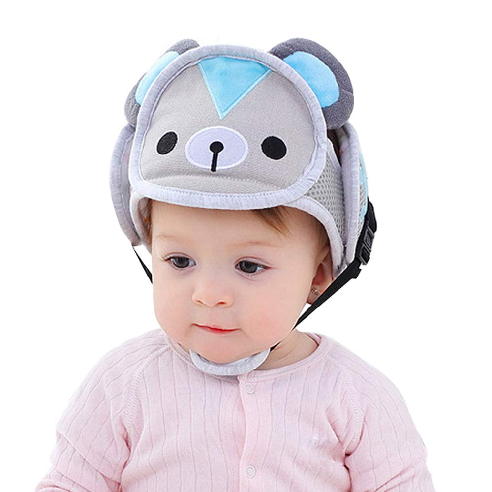Baby Infant Toddler Anti-Fall Head Protection Harness Cap No Bumps Safety Helmet Head Cushion Bumper Bonnet for Walking Crawl