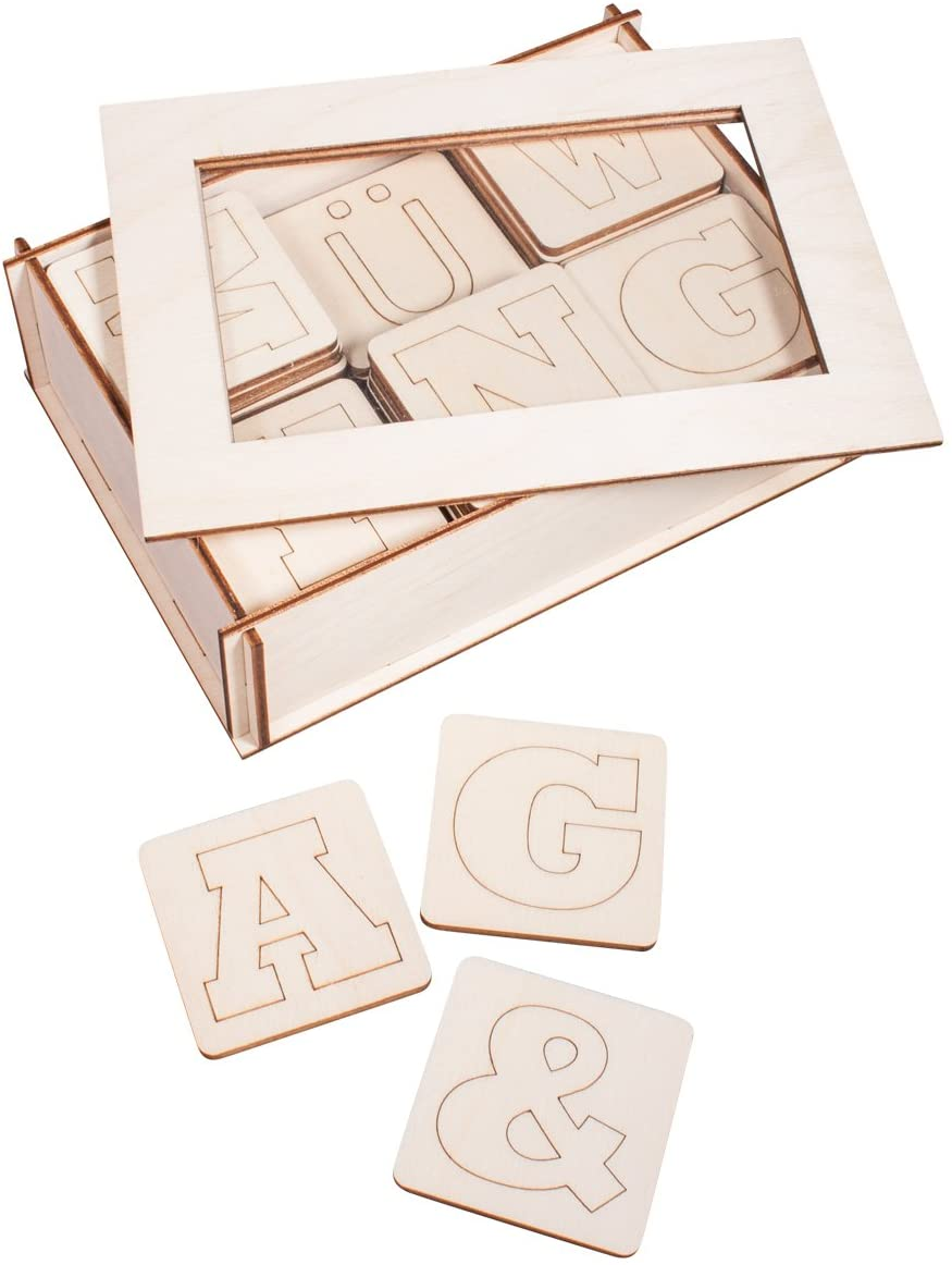 Rayher Wooden letters, FSC100%