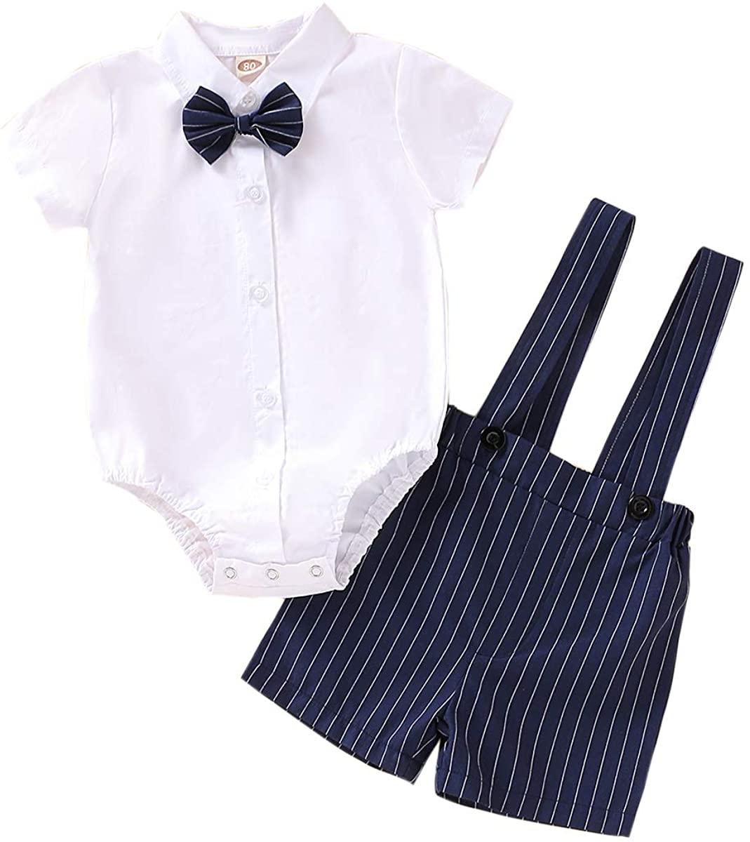 Baby Boy Little Man Gentleman Sets Cotton and Linen Plaid Romper Strap Shorts Summer Toddler Boy Outfits Sets