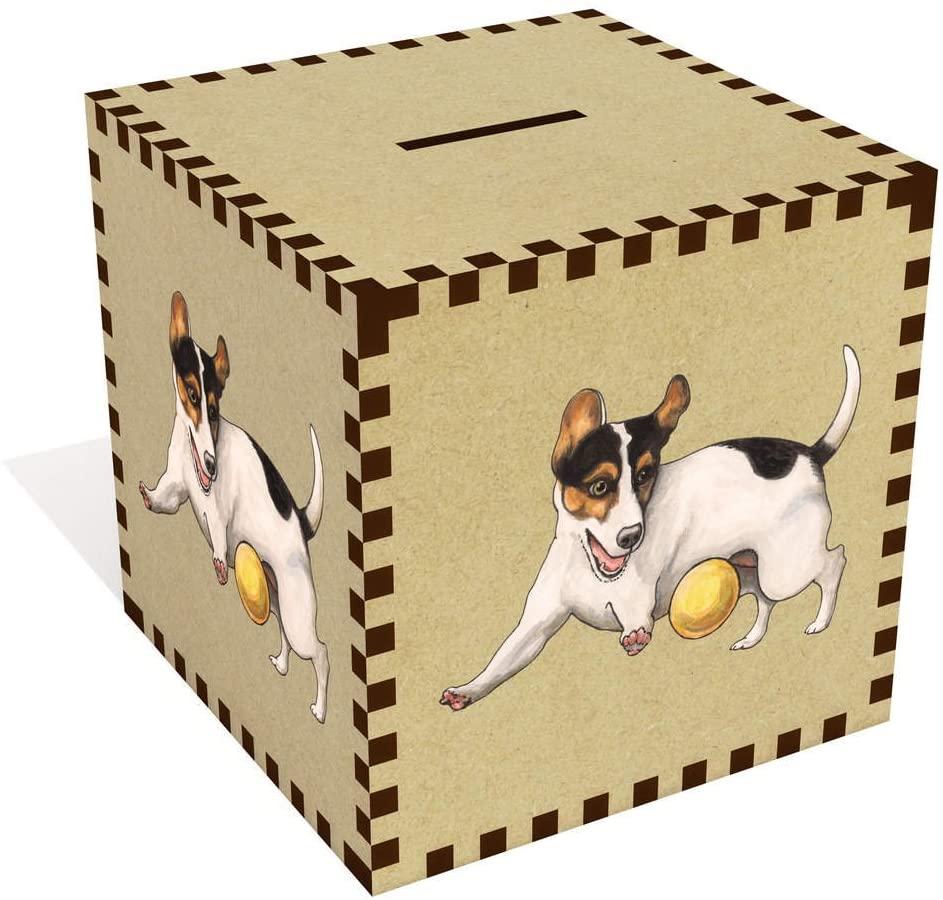 Azeeda Large 'Playing Jack Russell' Money Box / Piggy Bank (MB00064582)