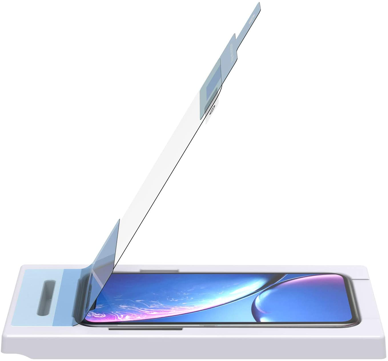GoTo Tempered Glass Screen Protector for iPhone 11/XR, Crack and Scratch Protection with Easy Install Tray
