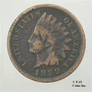 1889 U.S. Indian Head Cent / Penny Coin