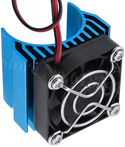 Vehicles-OCS RC Parts Electric 540 550 Motor Heat Sink Cover + Cooling Fan Heatsink 1/10 for Occus Redcat - (Color: Blue)