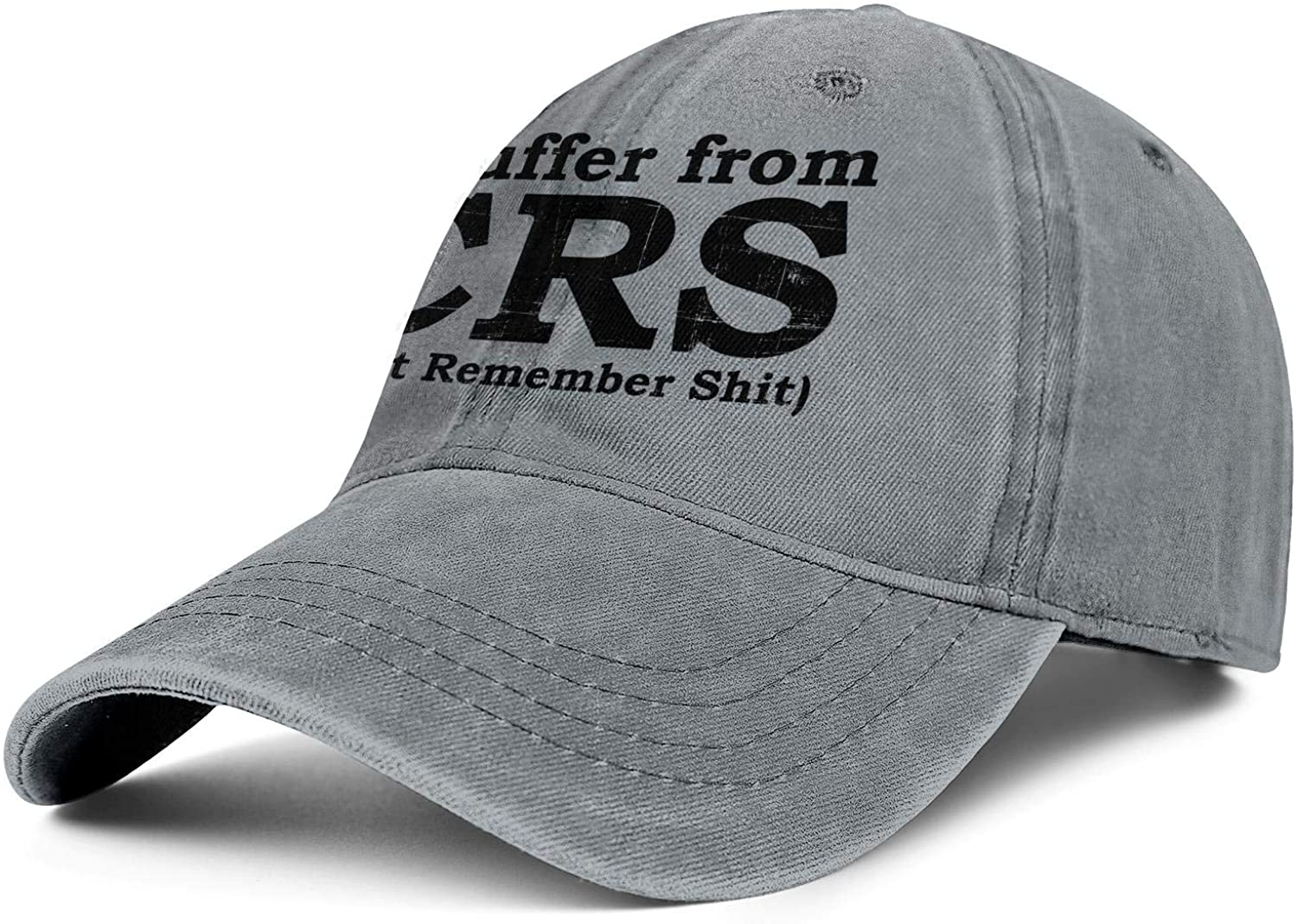 I Suffer from CRS - Can't Remember Shit Unisex Vintage Washed All Cotton Trucker Cap Adjustable Fits Snapback hat Sport Cap