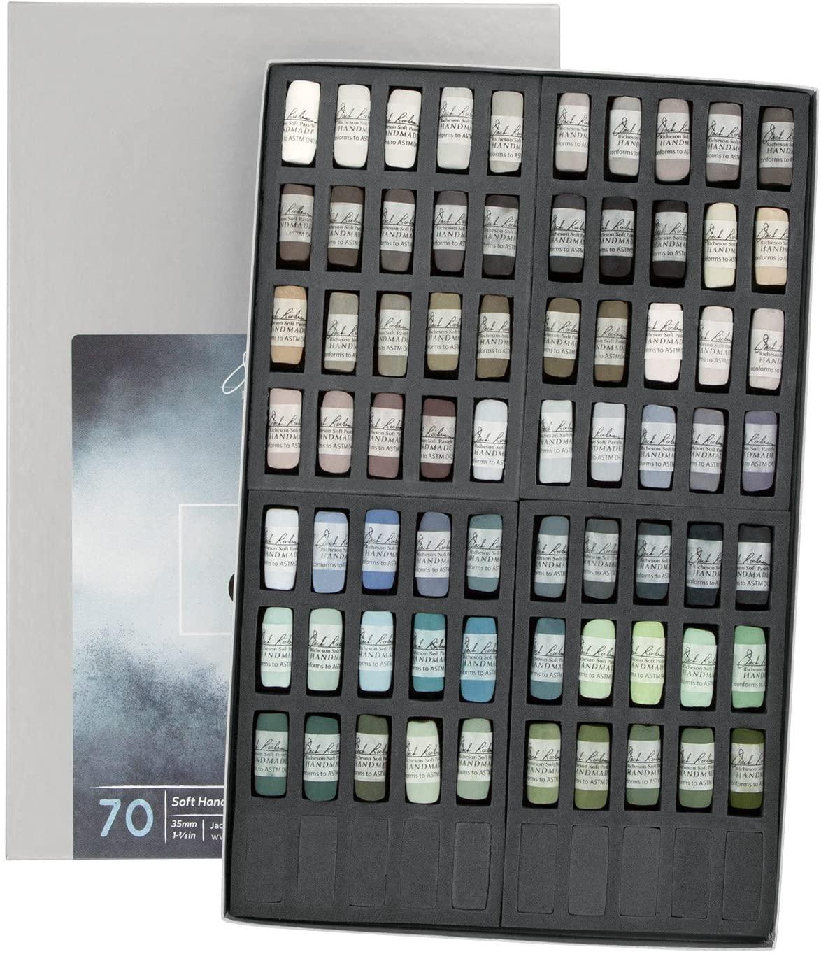 Jack Richeson 70 Piece Color Value Greys Hand Rolled Soft Pastel Set