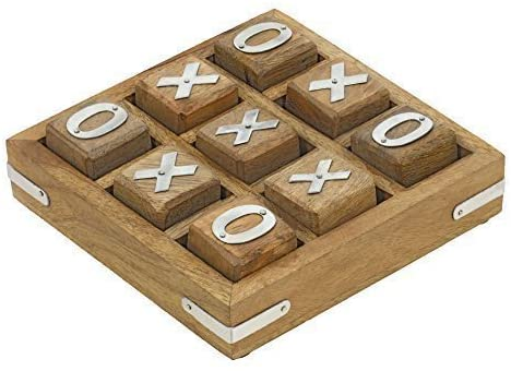 Batra Handmade Wooden Tic Tac Toe Game for Kids 7 and Up