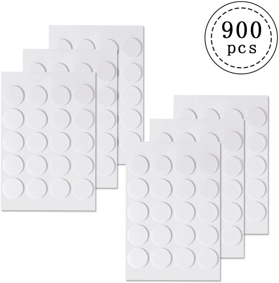 900pcs Candle Wick Stickers,Heat Resistance Candle Making Double-Sided Stickers for Candle Making,White