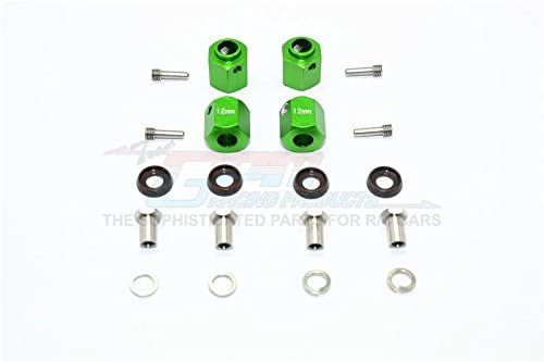 Traxxas TRX-4 Trail Defender Crawler/TRX-6 MERC-Benz G63 Upgrade Parts Aluminum Wheel Hex Adapters 12mm - 4Pcs Set Green