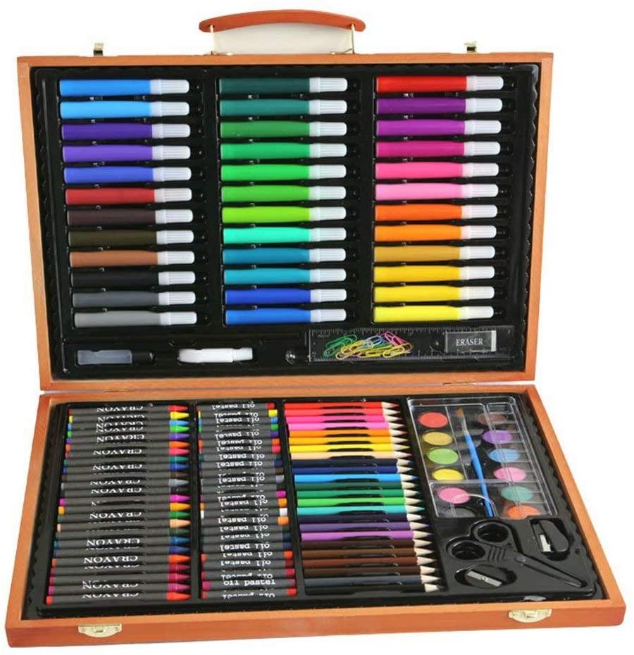 CUIJU Watercolour Pencils Set 150 Pcs,Crayons for Kids Doodle Pen Painting Tool Set/Kindergarten Watercolour Pencils