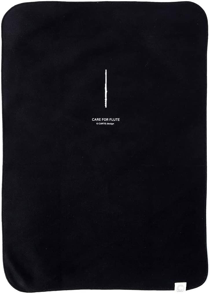 Curtis Bags Professional Microfiber Polishing Cloth for Flute One Size Black