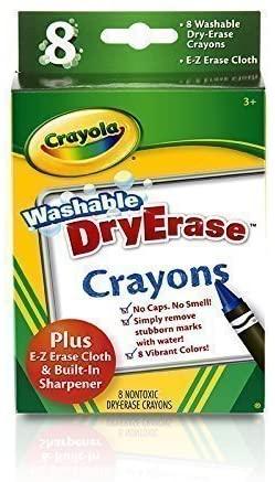 Crayola 98-5200 Multi-Color Washable DryErase Crayons 8 Pack
