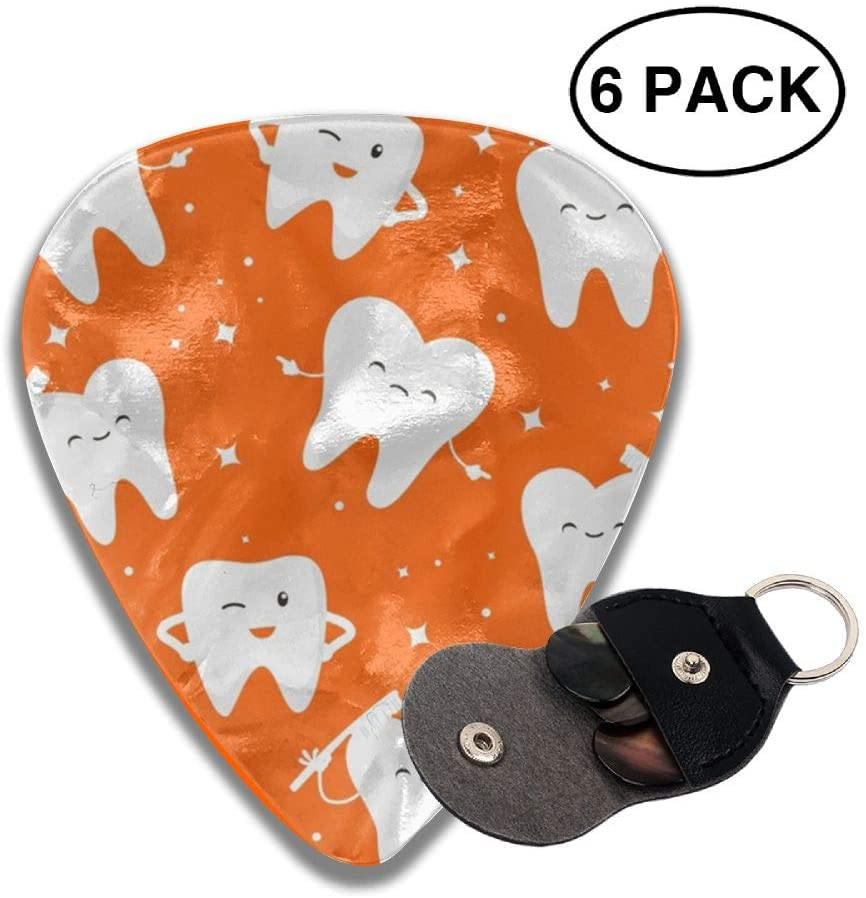 TO-JP 351 Shape Classic Celluloid Dental Dentist Guitar Picks 6 Pack