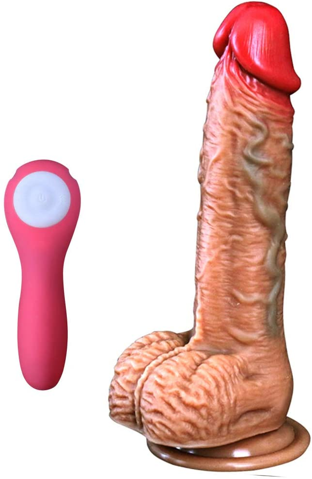 9 Inch Thrusting Thrusting Dìdlo with Strong Suction Cup Víbérâtë Adult Toys for Women with 6 Different Speeds Couples Game Perfect Gift Rechargeable Wireless Remote Control Back Foot Neck Leg