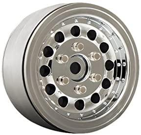 Gmade 70225 1.9 NR01 Beadlock Wheels (2 Piece), Chrome