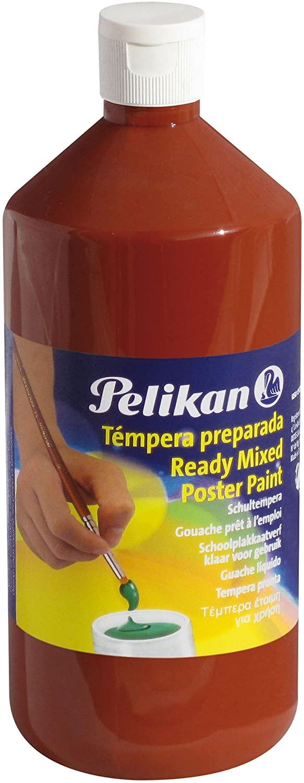 Pelikan–Tempera Paint School 1000ml, Burnt Sienna (60390)