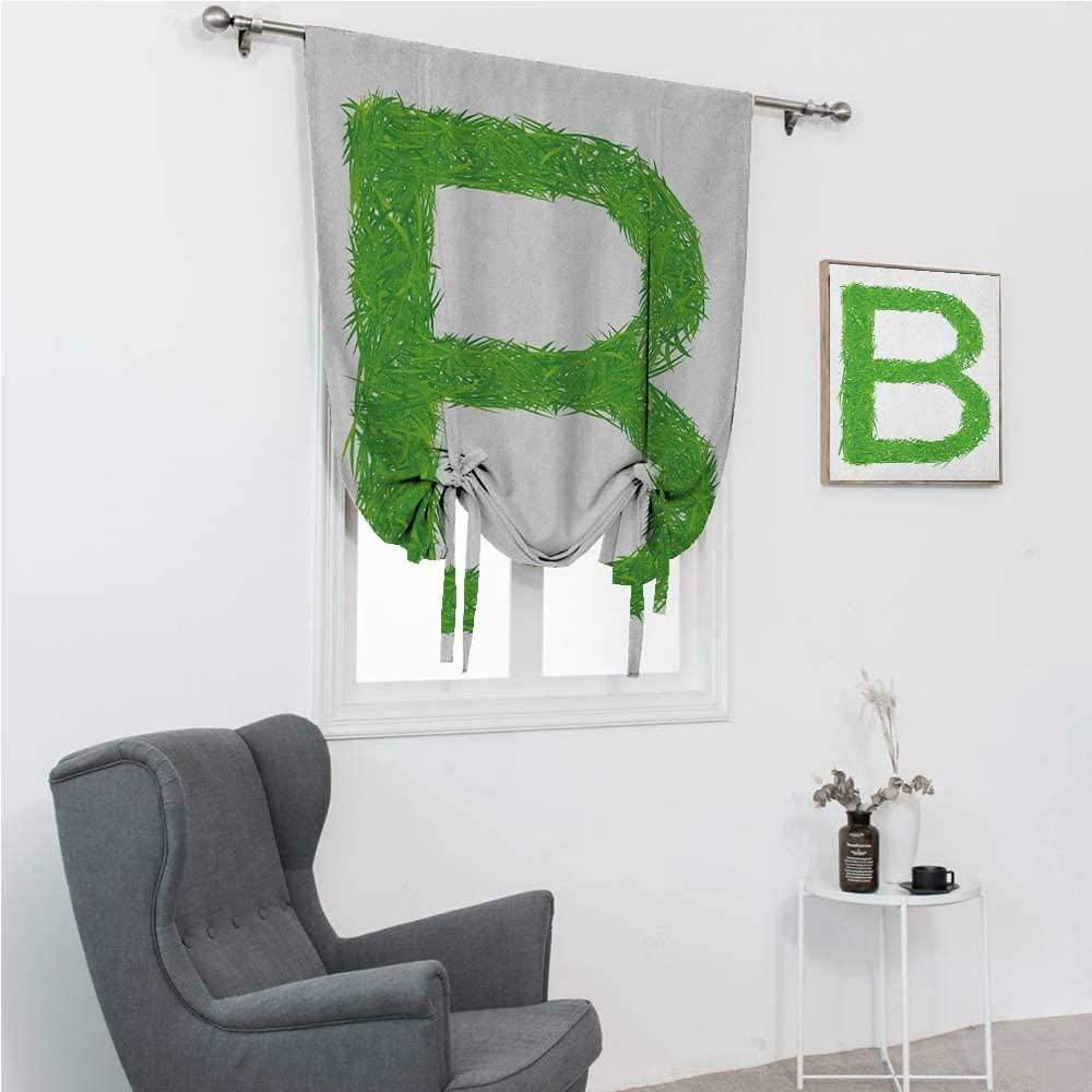 GugeABC Drapes for Living Room Letter B Room Darken Curtains Kids Baby Boys Children Capital B Name Fresh Growth Environment Ecology Concept 42