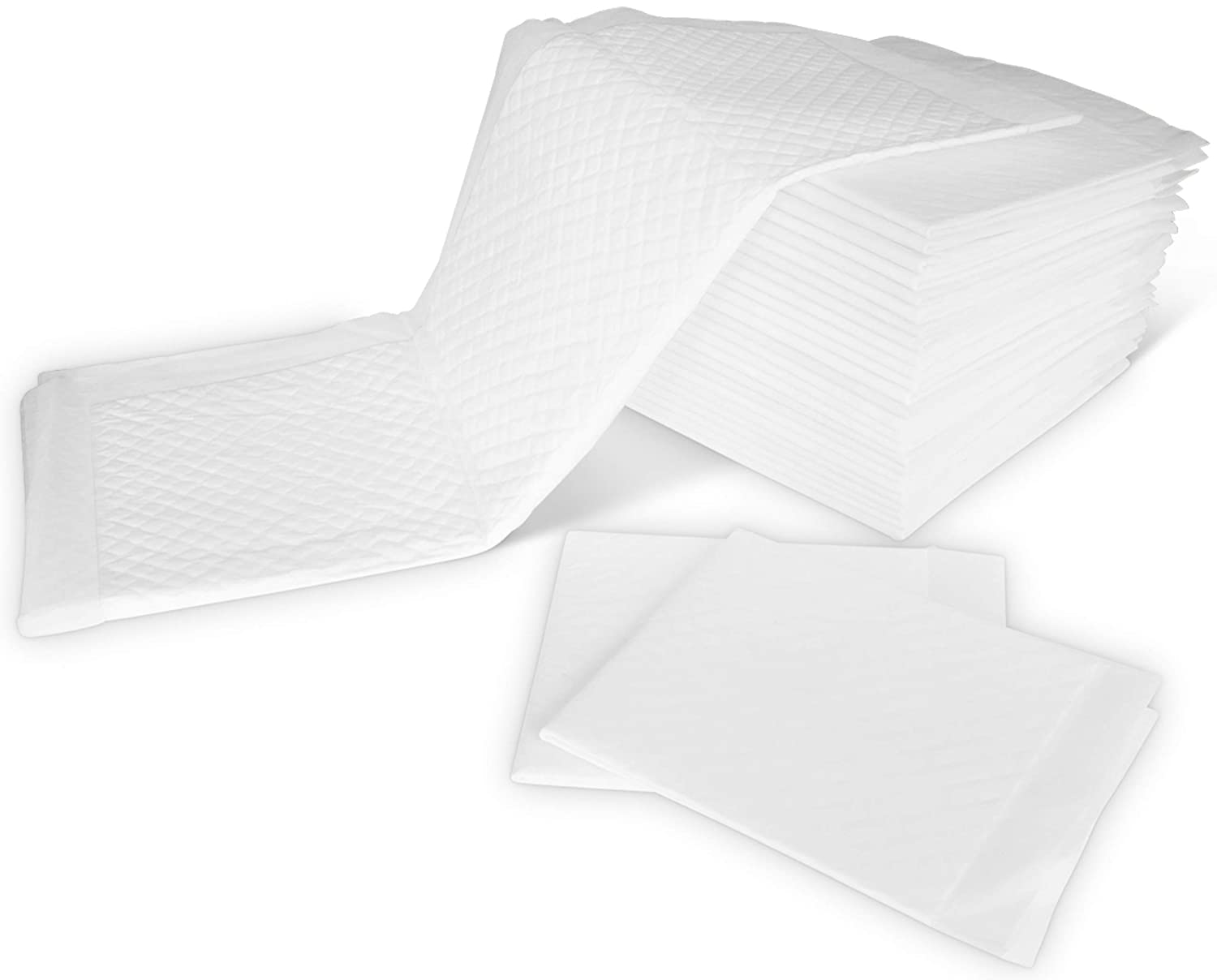 Underpads 25 Pack Baby Disposable Changing Pad 13x18Inch White Training Puppy Cover Portable Mat Diaper Table Bed Restroom Change Liner Waterproof Small