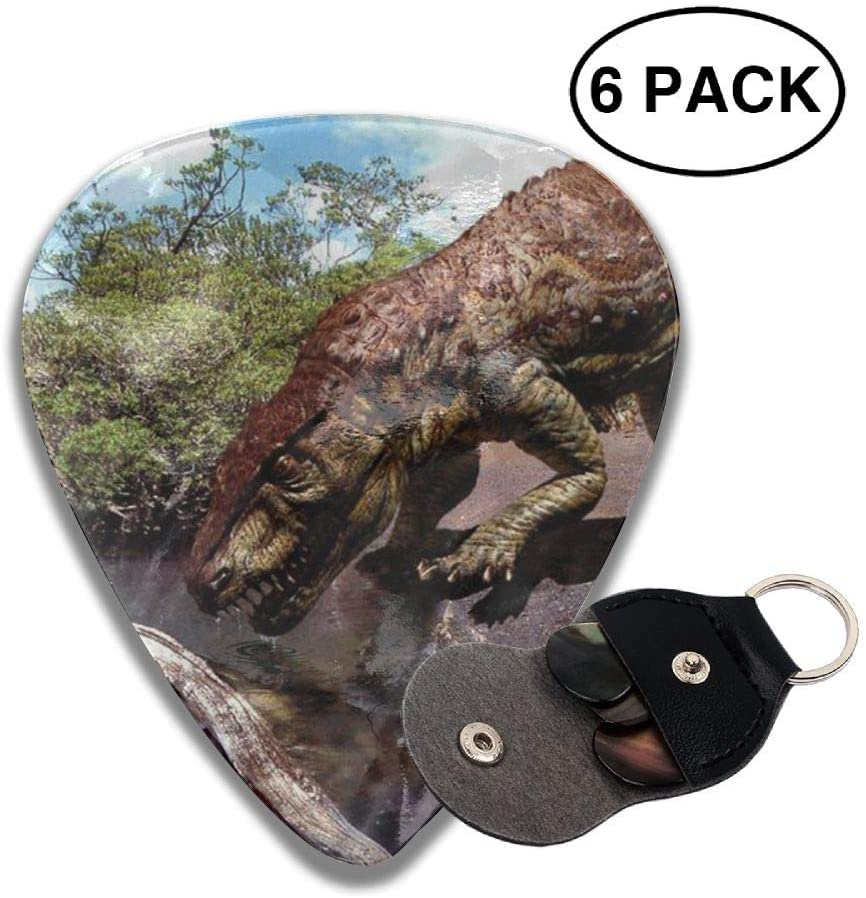 Game Life Dinosaurs Drink Water Guitar Picks Plectrums Middle Finger Classic Celluloid Bass Ukulele