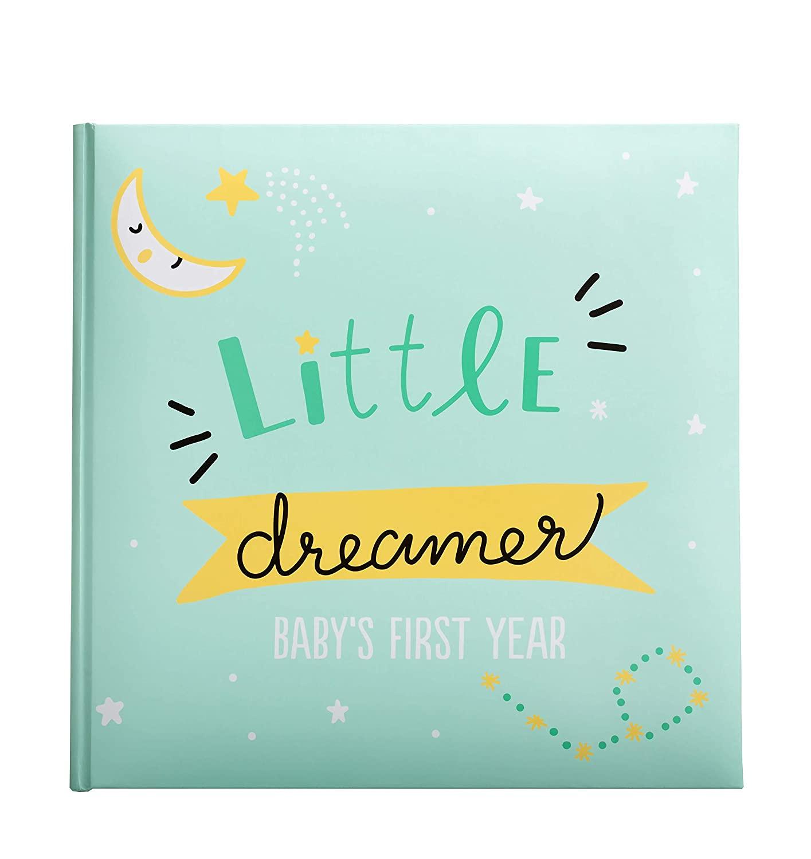 Kate & Milo Little Dreamer Stars Baby's First Year Memory Book, Baby Milestones Photo Album, Whimsical Gender Neutral Baby Shower Gift