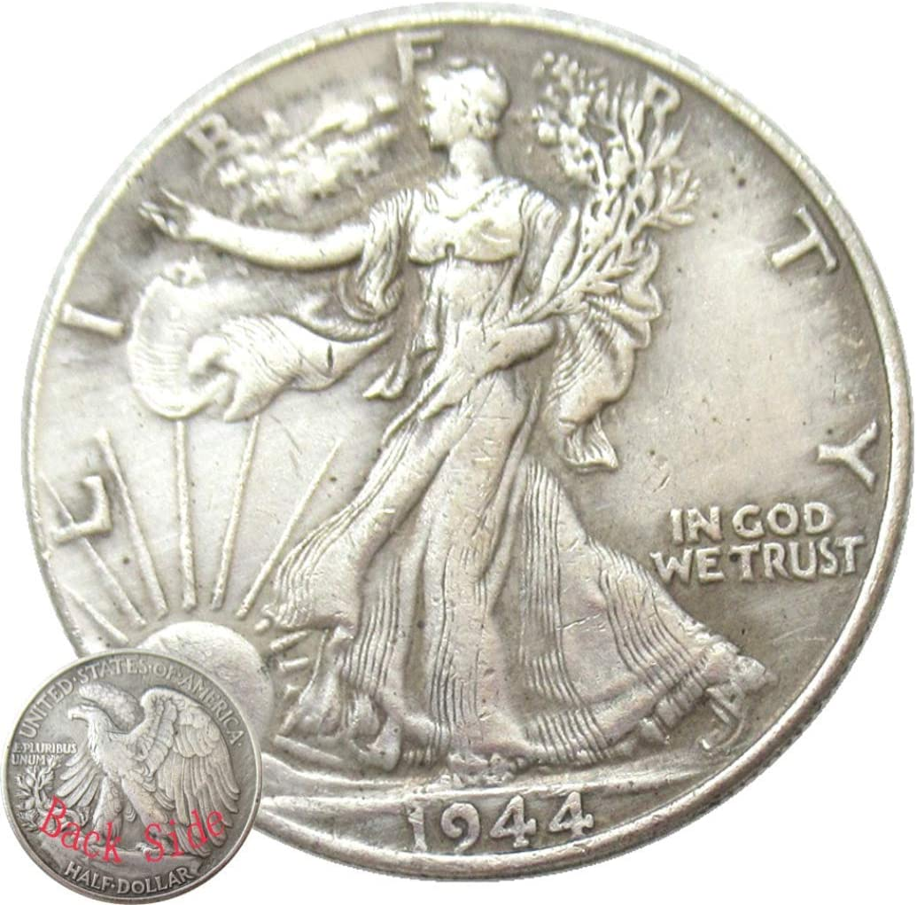 Jearls Walking Liberty  Eagle Replica Old Coins-1944 US Hobo Nickel Half-Dollar Morgan Dollar Coin- American Commemorative Old Coin for Dad/Friend/Husband KmKaiTing Hobby