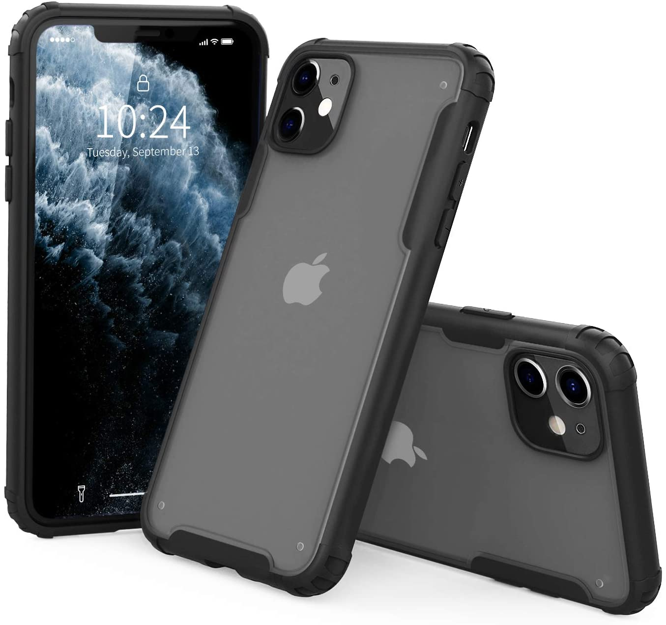 I STRIVE Heavy Duty Military Grade iPhone 11 Case -Matte Translucent - Phone Armor - Shock/Shatterproof - Slim - Hybrid Materials - Wireless Charging - Compatible with iPhone 11 6.1