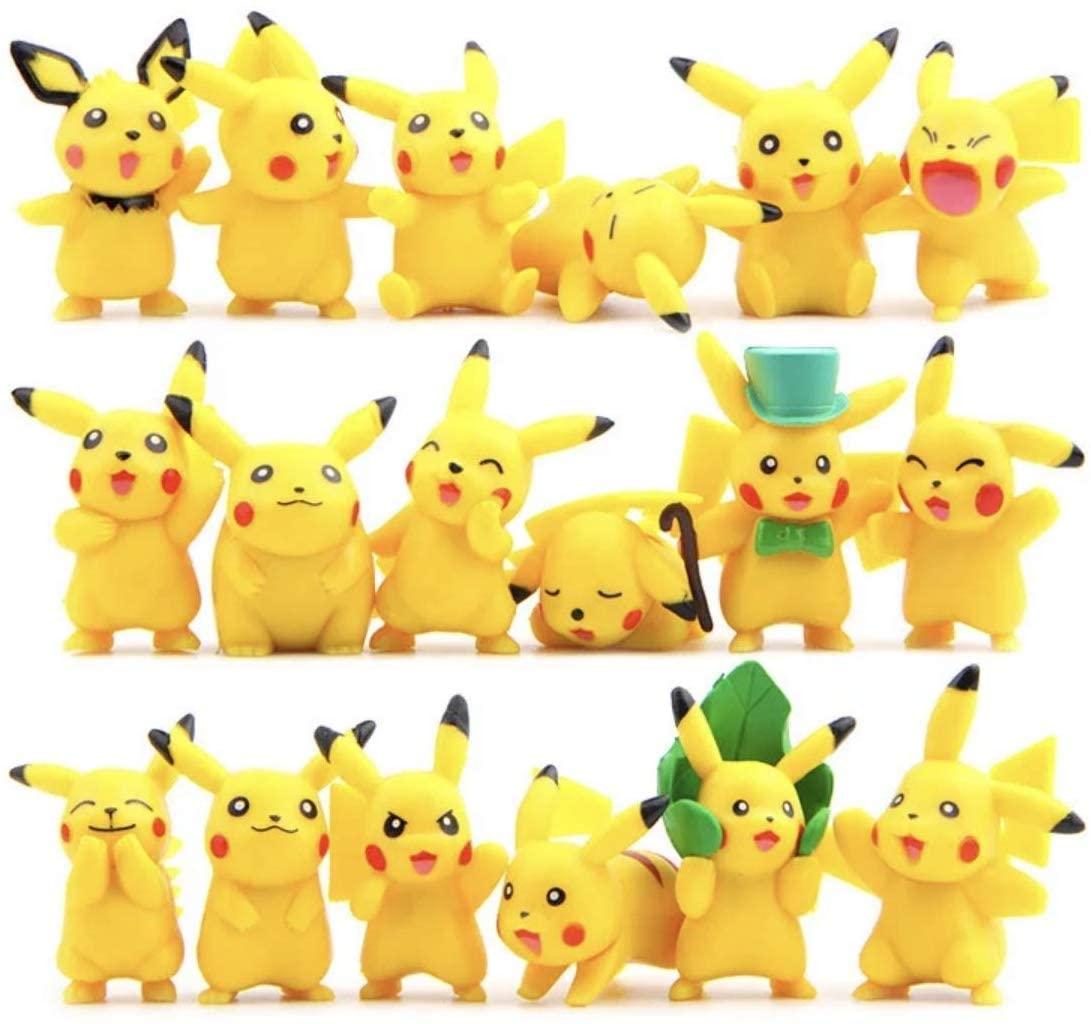 CNAK 18PCS 4-6CM Pikachu Action Figures Poke Mini Dolls mon Set